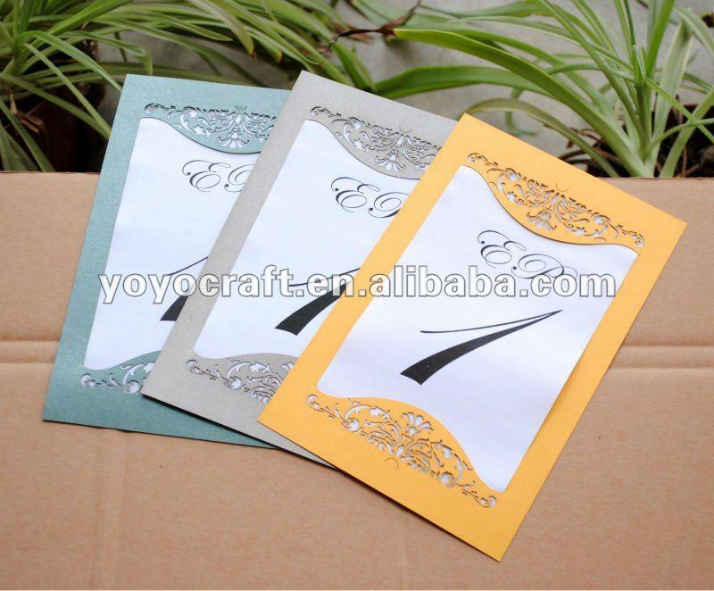 2019 Luxurious Invitation Card Design Handmade Laser Cut Wedding
