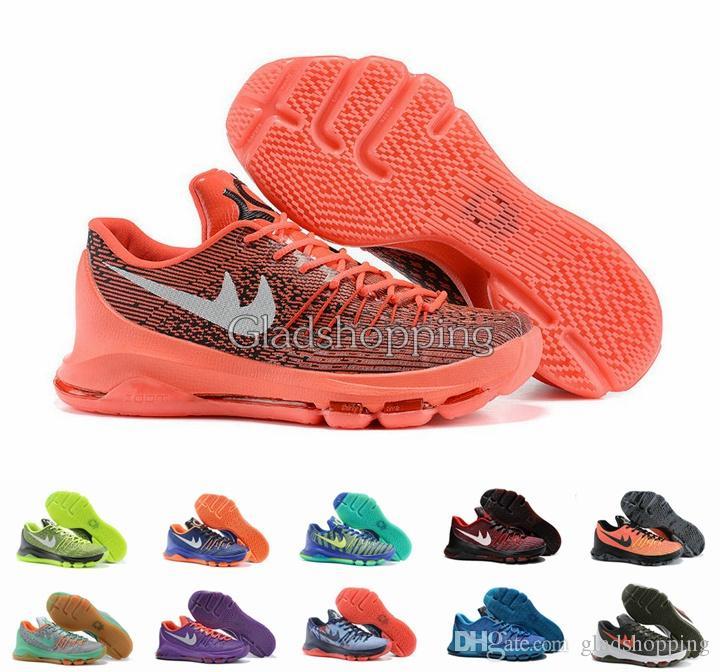the latest 5f57d d471d THE KD 8 2015 Kevin Durant KD 8 Men Women Basketball Shoes V8 Bright  Crimson Suit Hyper Cobalt Hunts ...
