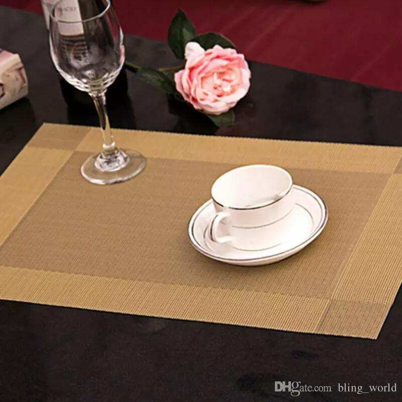 Dining Bar Table Mat PVC Dining Placemat Tables Cloth Cutlery Mats Kitchen  Dining Table Mats Table Accoesries Home Decor YFA166 Table Mats Fashion  Dining ...