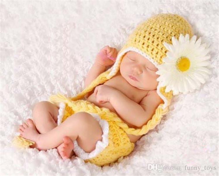 2018 new coming cotton material cute baby hat pants set winter handmade knitted infant newborn photography prop from funny toys 3 02 dhgate com