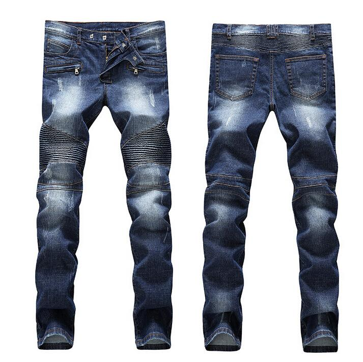 2c0866cce4 2019 Men Brand Paris Runway Stretch Jeans
