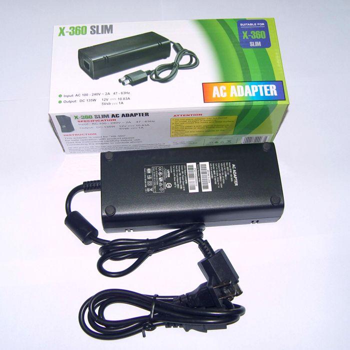 USプラグ100-240V~2A 47-63Hz AC電源アダプタの壁の充電器の電源コードボックス360 Xbox360スリムコンソール