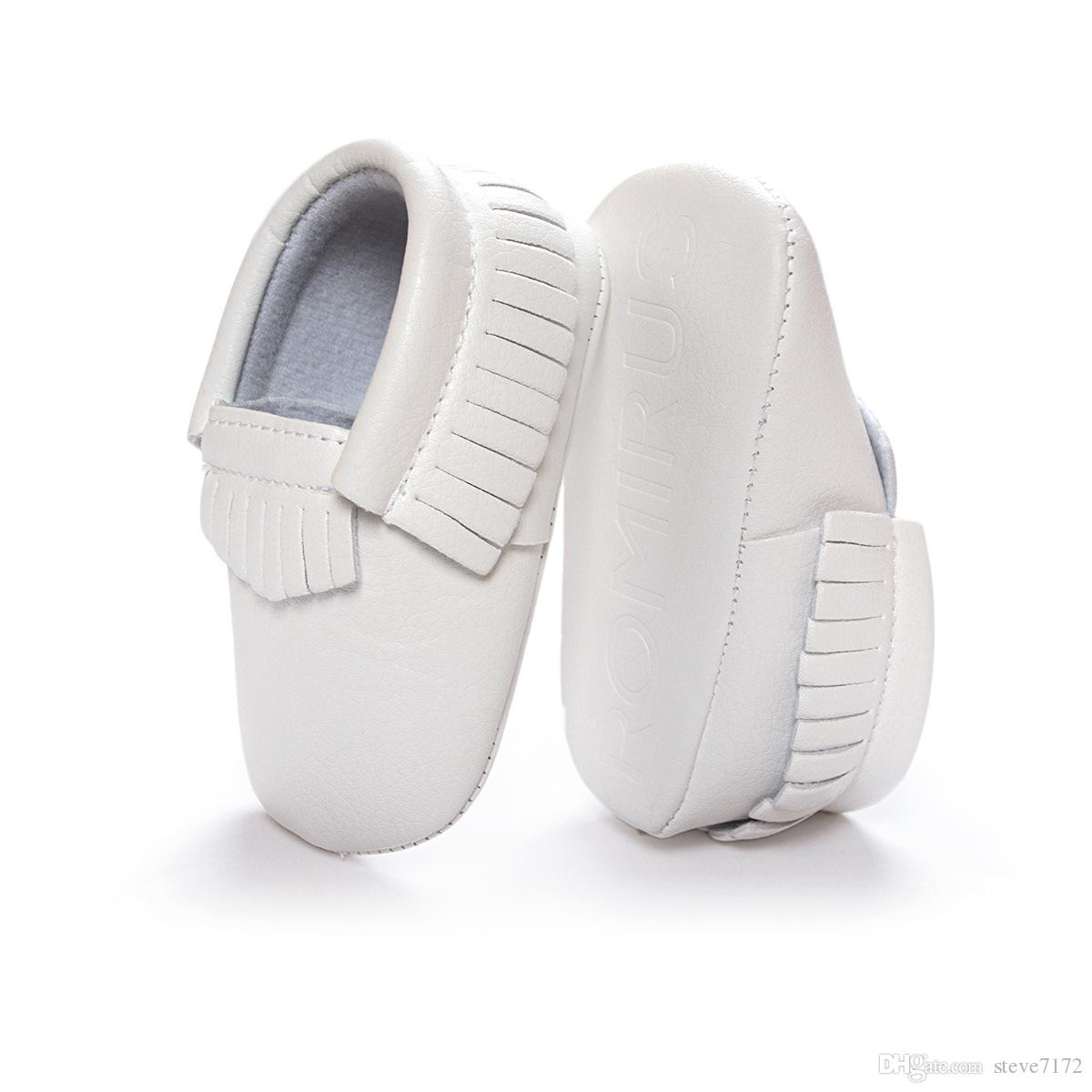 Wholesale Baby Moccasin White Leather