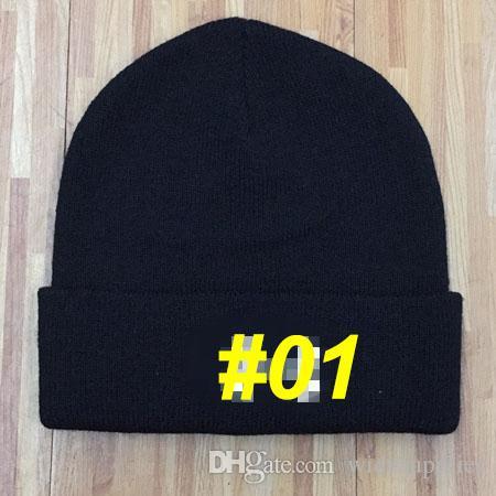 Sombrero de bordado de moda otoño e invierno sombrero de punto caliente gorra de esquí cap gorro de lana hiphop movimiento de la personalidad hip hop gorro de tejer A ++++