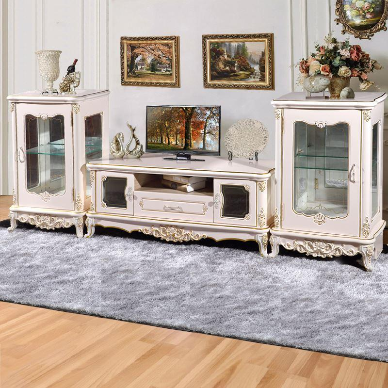 The Latest Explosion Models European French TV Cabinet TV Cabinet Luxurious Living  Room Furniture Factory Direct Part 81