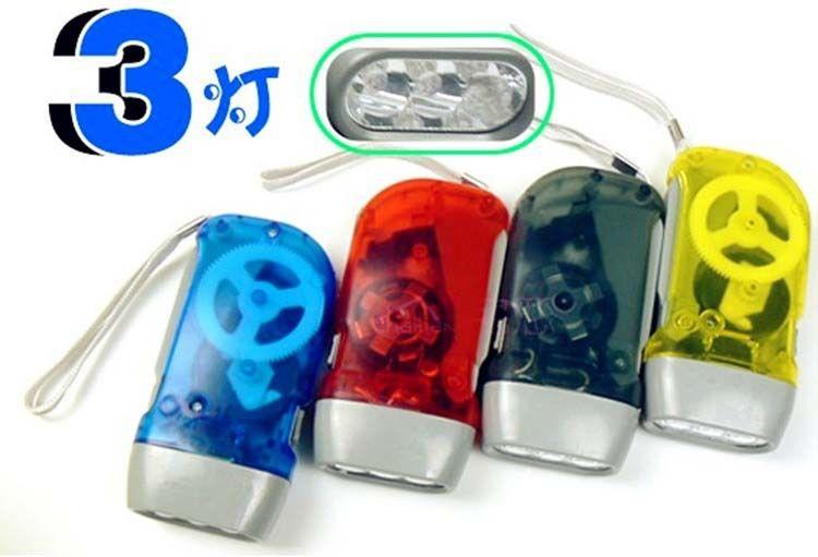 LED flashlight mini hand pressure flashlight hand pressure light green light hand self-generating Specials