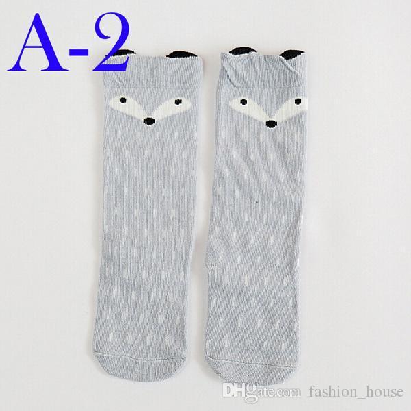 Unisexe dessin animé Animal jambières 2017 Mode bébés filles garçons genou haut Totoro Panda Fox chaussettes enfants mignon chaussette genou à rayures