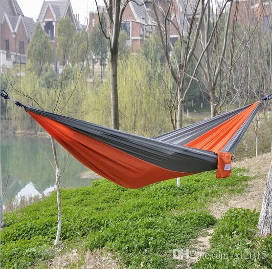 REE O envio 100 pçs / lote Pano de pára-quedas ao ar livre Dormindo Hammock Única camping Hammock