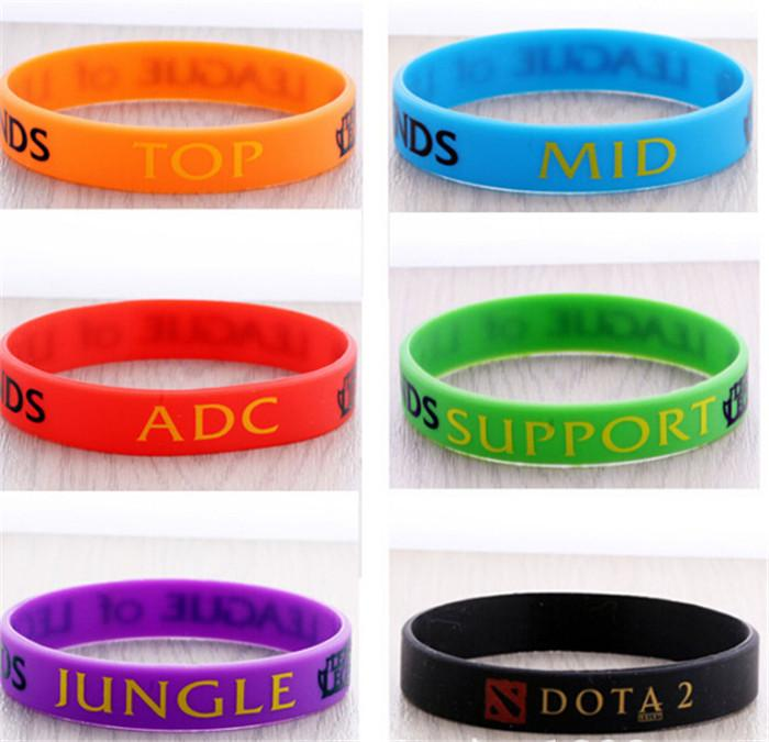 NEW arrive LOL Silicone Bracelets Wristband Hot LOL League of Legends Game Sport wristband Game Silicon Bracelet Wrist Band Bracelets D217