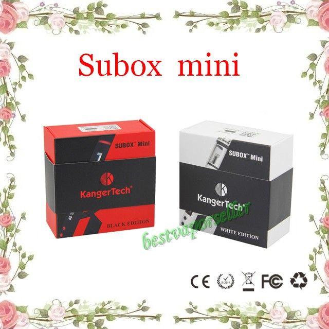 Kanger Subox mini starter kit Sub tank mini 4.5ml atomizer Variable Wattage KBOX Kangertech Box Mod E cigarette vapor from bestvaporseller