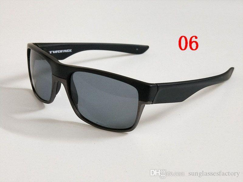 Outdoor Eyewear Neueste Zwei Gesicht Designer Sonnenbrille Männer Frauen Sonnenbrille Twoface Marke Fahrrad Gläser
