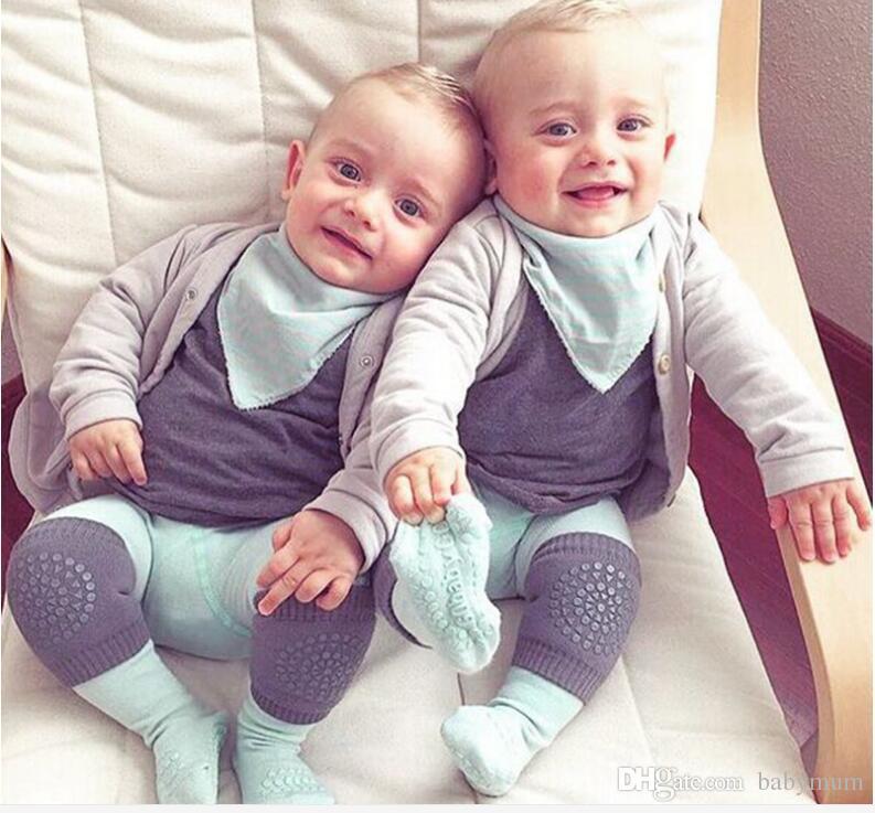 Bébé points genouillères rampant Cartoon sécurité coton protecteur enfants genouillères enfants court genou bébé jambières 8 couleurs