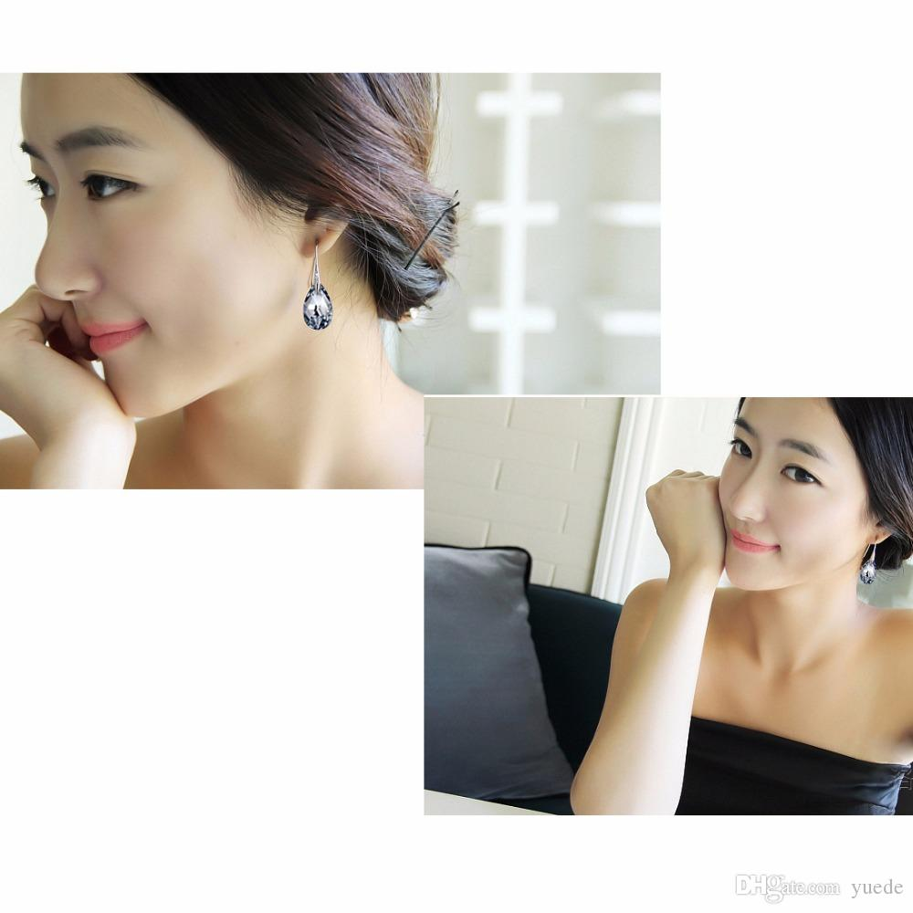 NEW SALE 925 Sterling silver 100% Original Crystals From Swarovski Bella Mini Piercing Earrings Fashion Stud Earrings