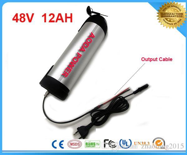 бесплатное зарядное устройство 54.6 V 2A. Батарея чайника воды Li-Иона 48V 12Ah с доской BMS, 48v 12ah электрическая батарея велосипеда