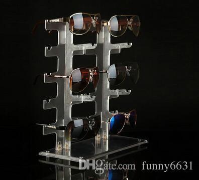 Sonnenbrillengestell Sonnenbrillen, die Standplatz zeigen Plastikbrillenpräsentationsständerplastikanzeigenregal geben Verschiffen frei