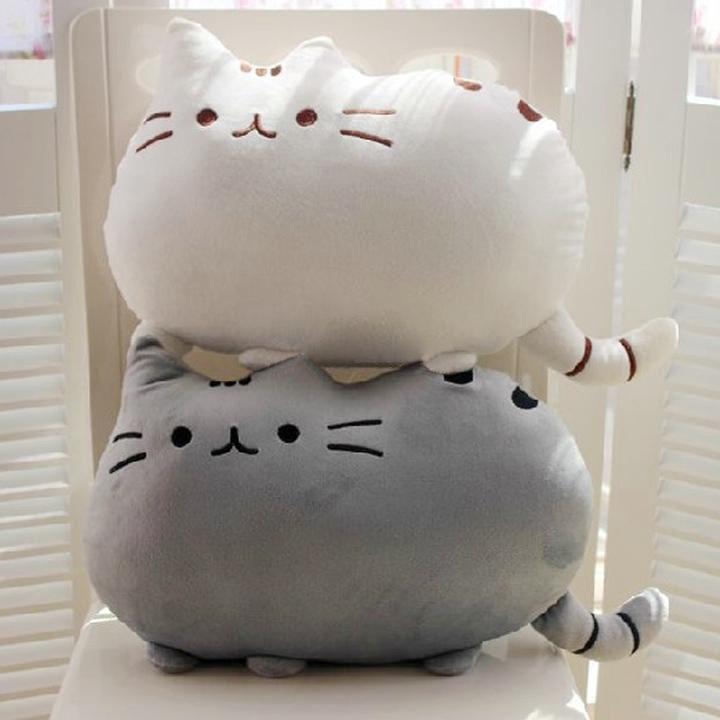 Wholesale-Novelty cute soft plush stuffed animal doll baby anime toy cat for girls kawaii cushion pillow birthday gift#10 SV004167