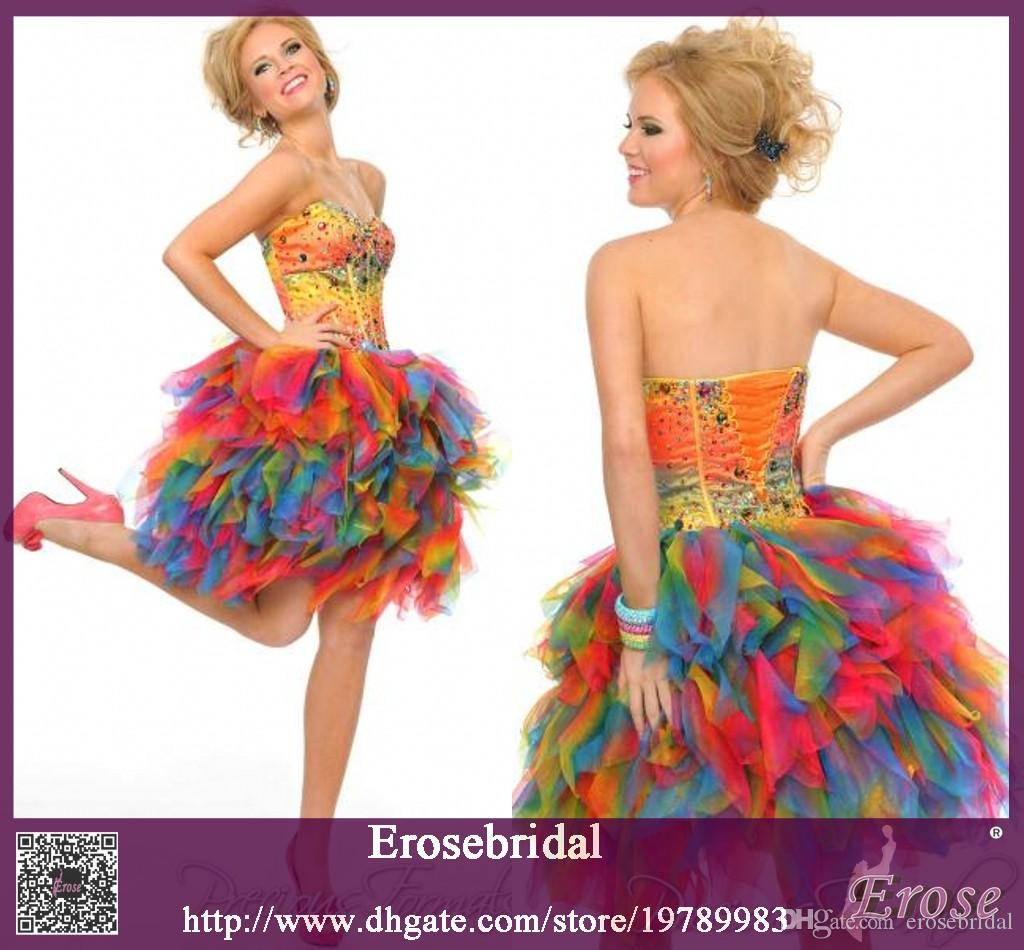 Mini Multicolor Prom Dress