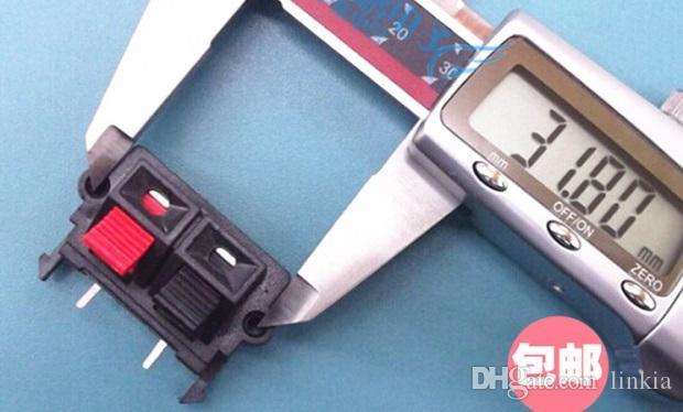 오디오 단자 곡선 형 좌석 스피커 단자 직접 구리 클램프 클립 2 피트 닫음