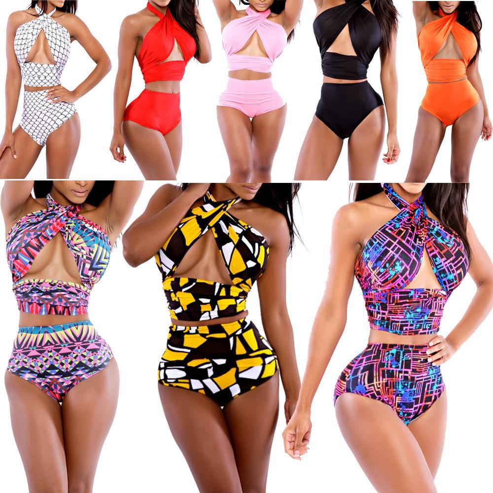24047ece56ff 2015 ropa interior sexy traje de baño vintage para mujer cubierto traje de  baño bikini Bikini Vestidos de baño en la playa Baño Monokini link moda M L  ...