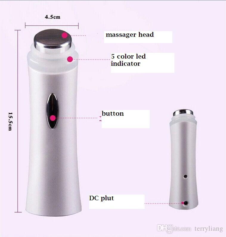 Portable Ultrasonic vibration Lights for 5 skins Lifting Face Lift Care Skin Cleaner Wrinkle Remover Facial Beauty Massager