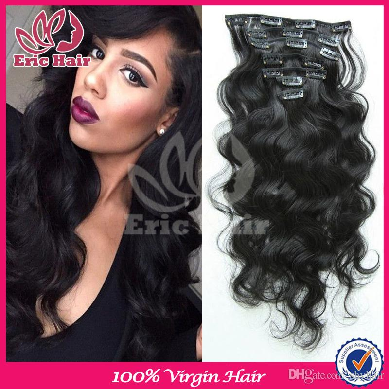 Grade 7a african american clip in human hair extensions for black see larger image pmusecretfo Choice Image