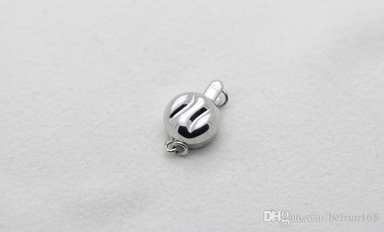 Envío libre Al Por Mayor de accesorios de Perlas Yu fu yuan 925 perlas de plata collar de la pulsera de cierre YPJ93
