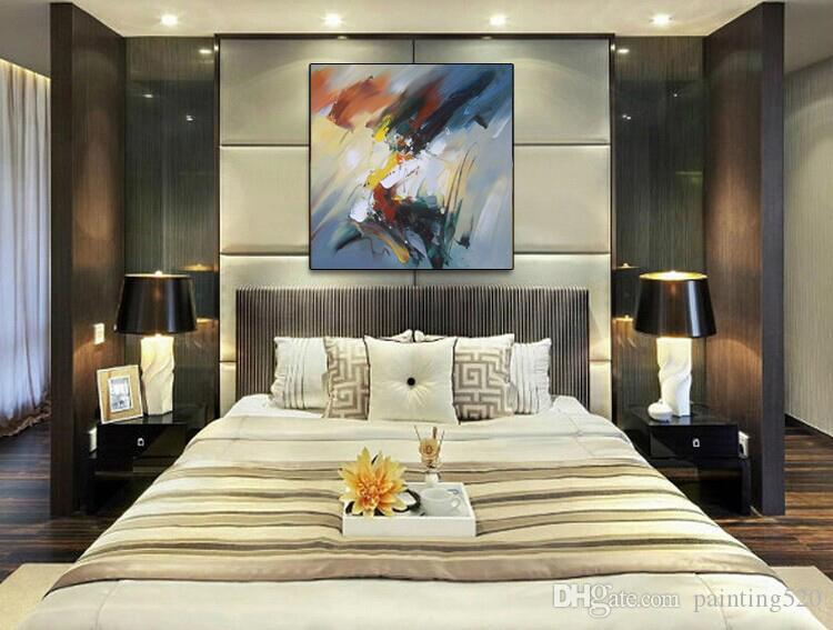 Hand Painted High Quality Modern Wall Art Picture Home Decoration Abstract Line Oil Painting On Canvas For Living Room JL282