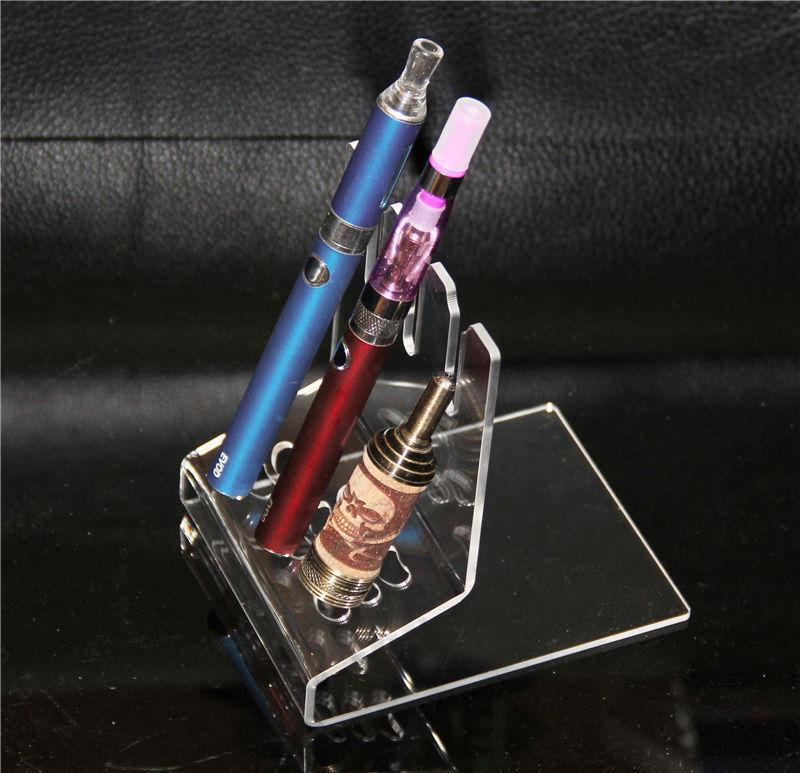 아크릴 e cig 전시 쇼케이스 ec mod 스탠드 명확한 쇼 케이스 선반 홀더 랙 자아 evod 전자 담배 키트 상자 mods 탱크
