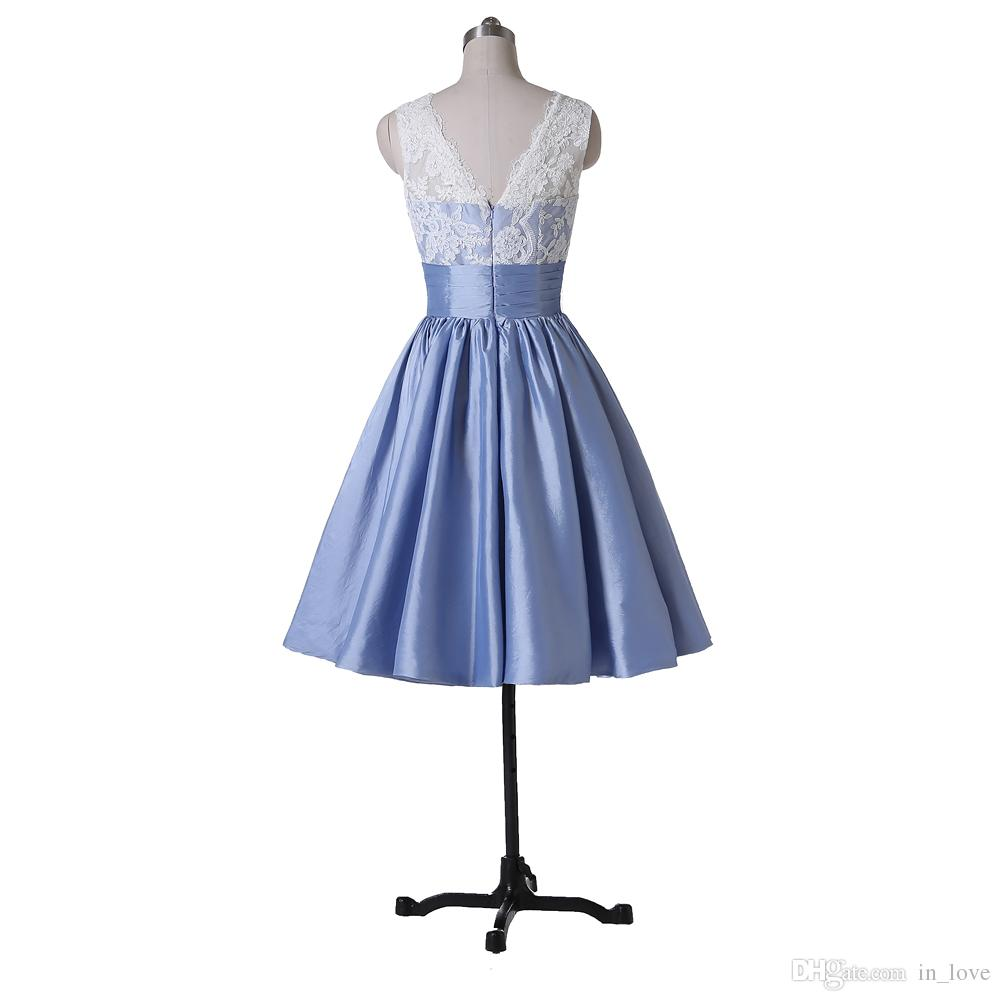 Short Cocktail Dresses A Line Party Gowns New Coming Taffeta Bow Wful Sheer Appliques Scoop Modern Low Back Custom Made Fantastic