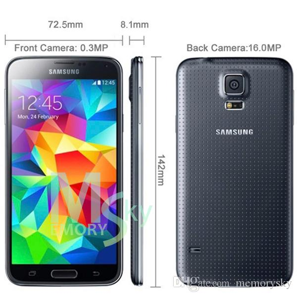 "Original Refurbished Samsung Galaxy S5 i9600 2GB RAM 16GB ROM 16MP Camera Quad Core 5.1"" Inch Cell Phone"