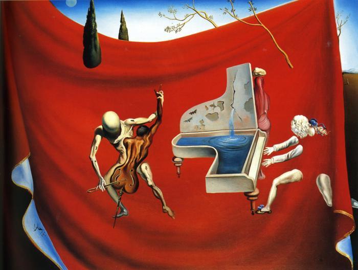 Acheter Peinture Abstraite Moderne Musique Lorchestre Rouge De
