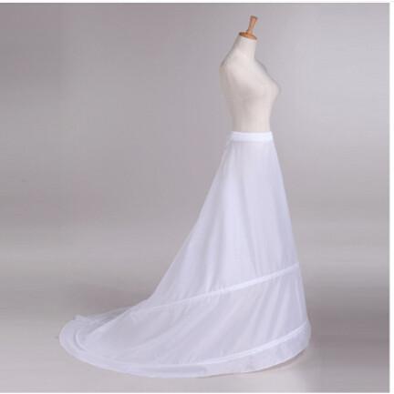 2015 طويل قطار الأبيض رخيصة ثوب نسائي الزفاف / تحتية نسائي لفستان الزفاف / مساء صنع في الصين اكسسوارات الزفاف
