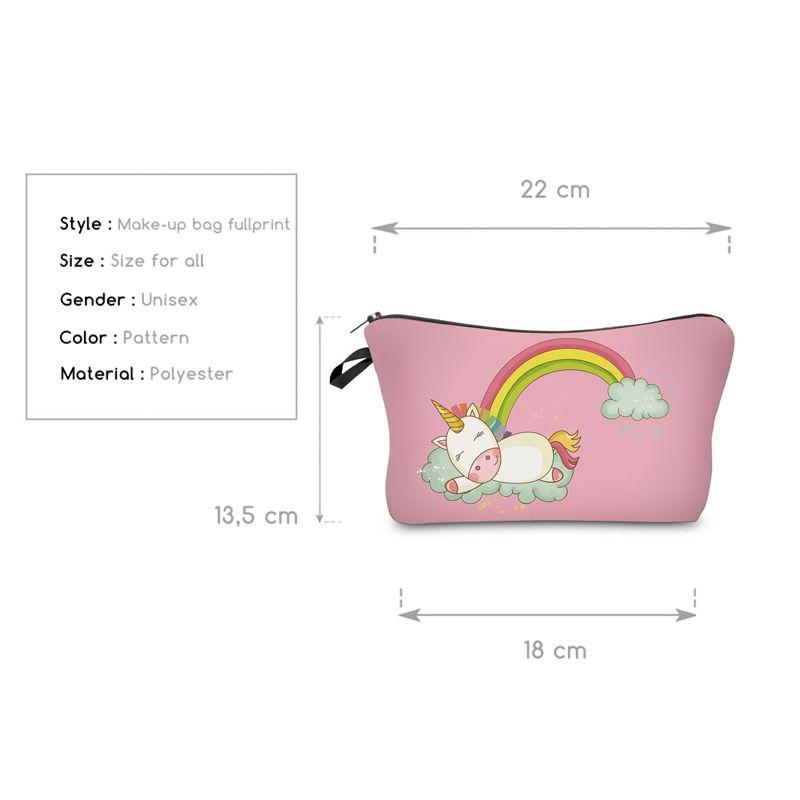 Deanfun Moda Marka Unicorn Kozmetik Çantaları Yeni Moda 3D Baskılı Kadınlar Seyahat Makyaj Çantası H87