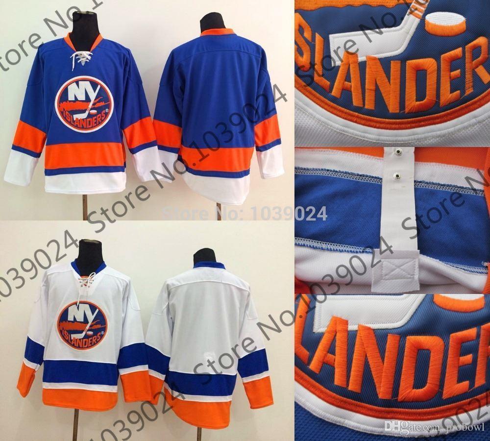Blank New York Islanders Ice Hockey Jersey Blue White Custom Any ... bda8b842f