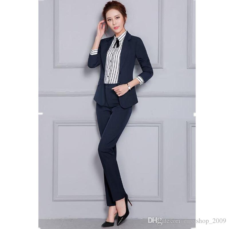 Autumn and winter woman suit long sleeve fashion simple style high quality custom formal Christmas woman suit two-piece