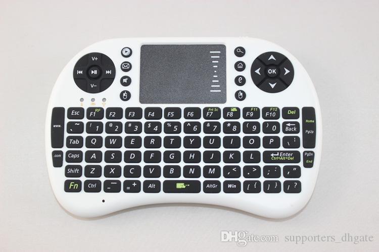 Fly Air Fare Rii Mini i8 2.4G Kablosuz Klavye ile Çoklu Medya Uzaktan Kumanda Touchpad El Android için Google Akıllı TV Kutusu klavyeler