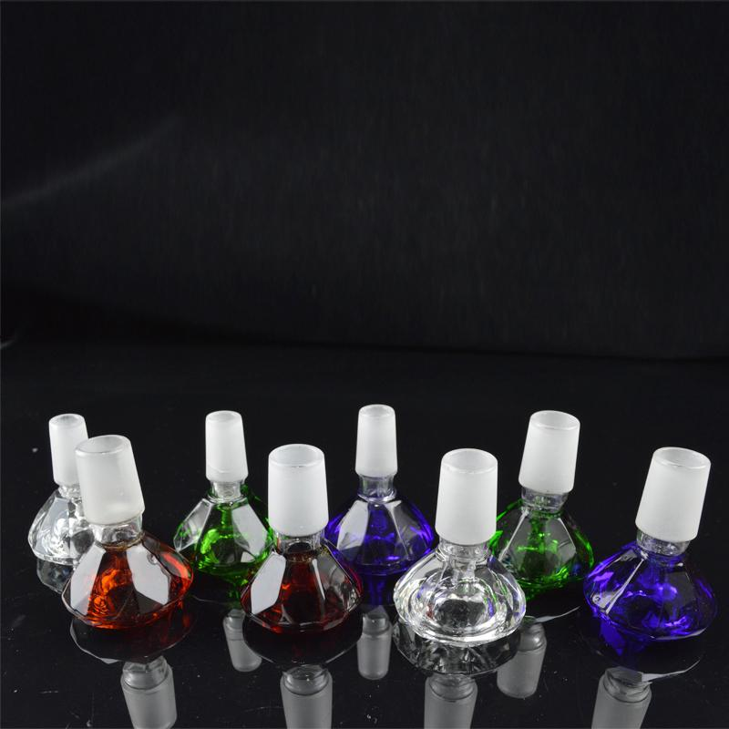 14mm 18mm Heady Colored Male Glass Bowl Diamond Design 18.8mm 14.4mm Water Pipes Bongs Bowls Multicolor Glass Bowl for Oil Rigs