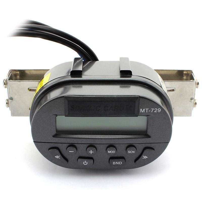 Автомобиль Универсальный Мотоцикл Руль Радио Аудио FM MP3 Динамик Поддержка SD Пульт Дистанционного Управления ЖК-Дисплей Водонепроницаемый Защита от Кражи
