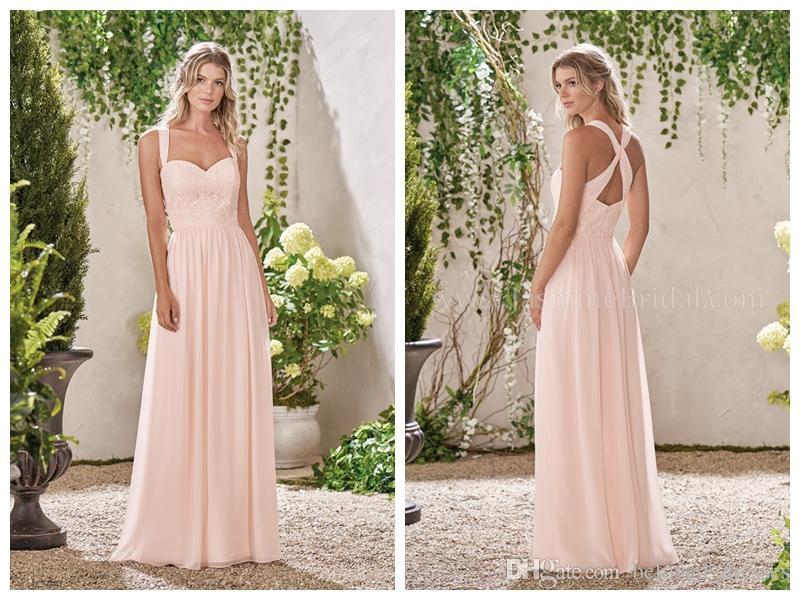 2018 Bridesmaid Dresses Blush Chiffon Jasmine Prom Dresses Wedding ...