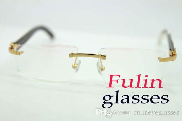 Boa Qualidade Mix Branco Preto Bufflao chifre óculos para as Mulheres óculos de metal prateado ouro armação dos óculos óculos T8100905 Tamanho: 54-18-140mm