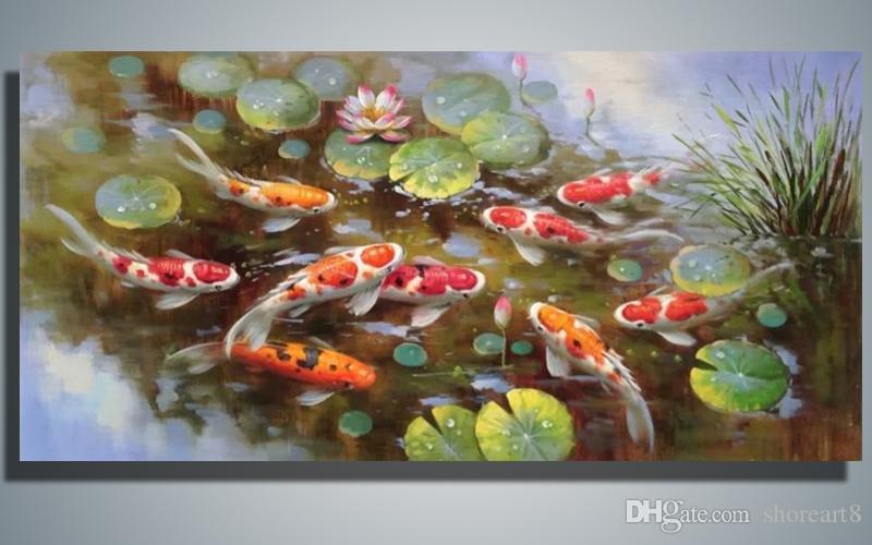 2018 Hand Painted Canvas Painting South Korea Japan China