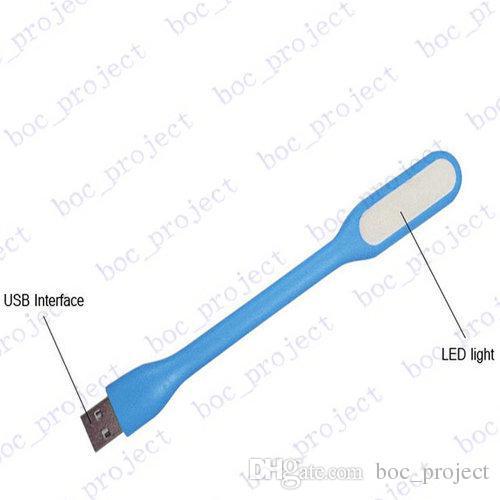 USB LED Lamba Işık Taşınabilir Esnek Led Lamba Dizüstü Dizüstü Tablet PC için Perakende kutusu olmadan USB güç corlorful 200 adet / grup