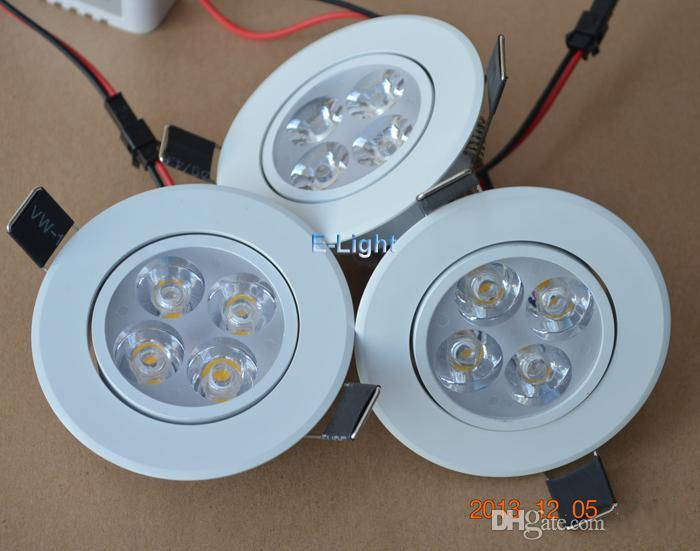 Dimmable 12W led recessed ceiling lights Warm/natrual/cool white led downlights bulb lamps CE ROHS