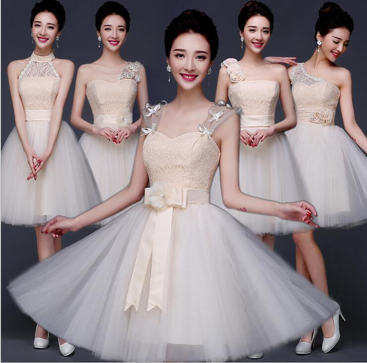 2016 Bridesmaid Dresses Under 50 Short Chiffon Candy Tutu Sister ...