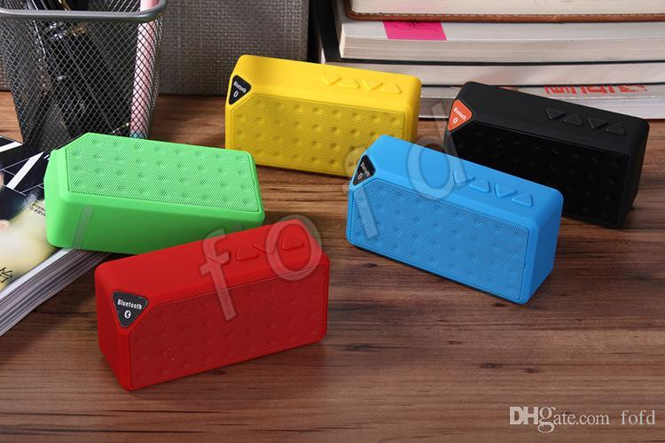 2015 New Mini Colorful LED Flashing Pulse X3S Bluetooth Speaker Portable Wireless Handsfree X3 Speakers TF FM Radio Subwoofer Free DHL