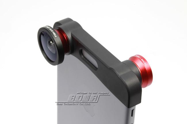 Camera Lens for iPhone 5 5S iPhone 6 iPhone 6 Plus Photo Lens Fast Charging Fisheye Wide Micro 3 in 1 Zoom Len Set Mount Fish Eye Lens
