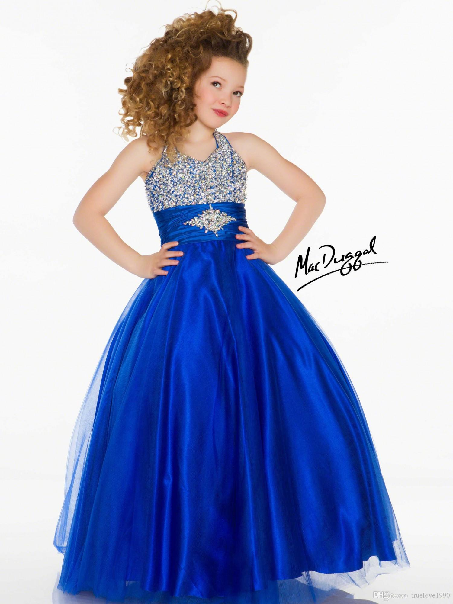 Helder paars wit rood blauw tule halter bloem meisje jurken meisjes 'pageant jurken vakantie verjaardag jurken custom sz 2-14 tf114060