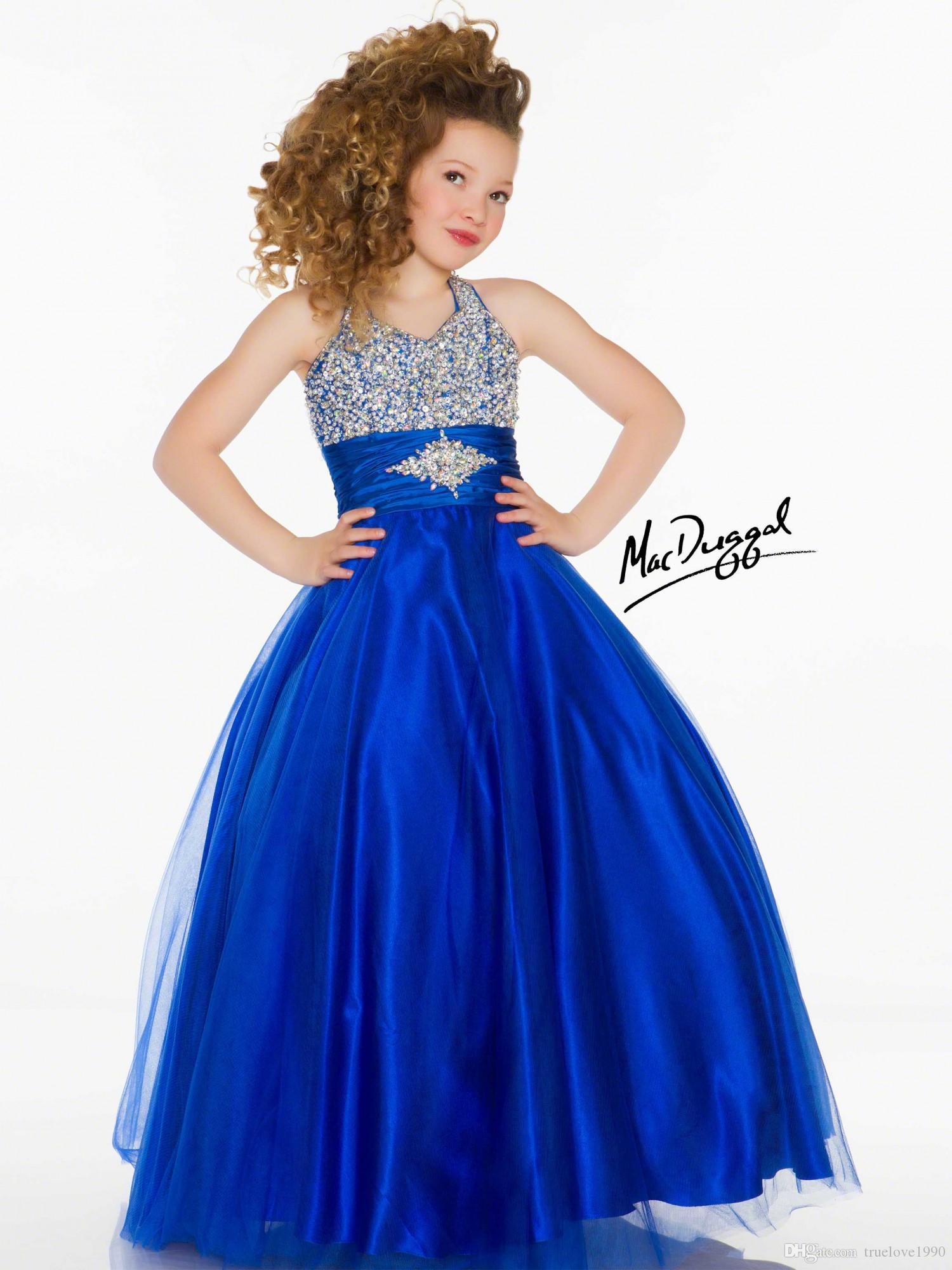 Ljus lila vit röd blå tulle halter blomma flicka klänningar tjejer pageant klänningar semester födelsedag klänningar anpassad sz 2-14 tf114060