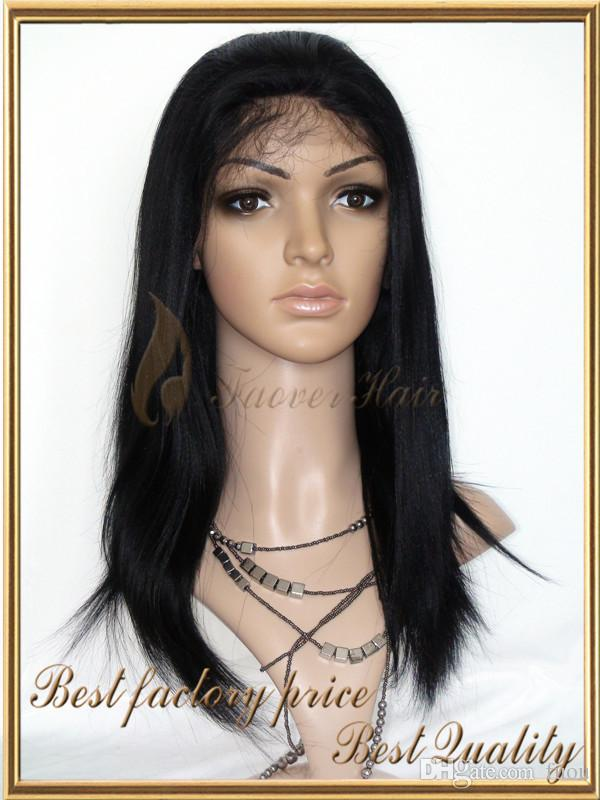 1 #, 1b, 2 #, 4 #, color natural recto sedoso 100% cabello humano peluca llena del cordón peluca delantera del cordón con el pelo del bebé densidad del 130% en la venta Navidad