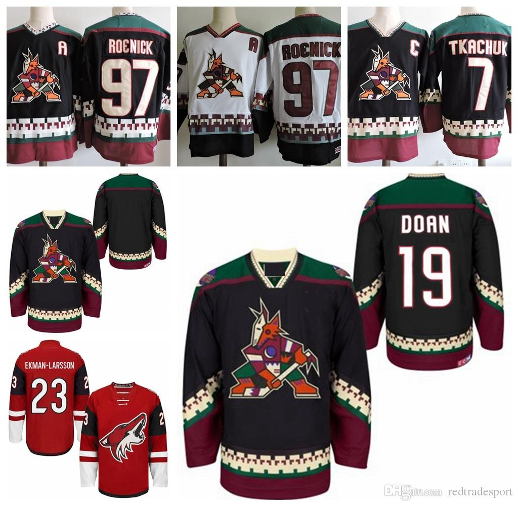pretty nice 7c469 4de76 Vintage Arizona Coyotes Hockey Jerseys 19 Shane Doan 23 Oliver  Ekman-Larsson 97 Jeremy Roenick 7 KEITH TKACHUK Classsic Stitched Jerseys